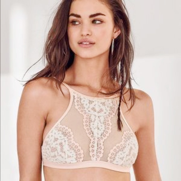 d28a166953 ️PINK Body by VS Crochet Lace Highneck Bralette